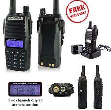 Portable Radio Scanner Transceiver Handheld Police Antenna Battery HAM 2 Way NEW