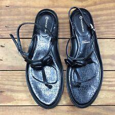 Rockport Adiprene Adidas Black Leather Low Wedge Sandal 7 W