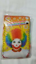 Clown Wig Rainbow Curly Wig, Party Clown Hair Multi Colored, Sz 12+, New