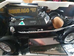 BURAGO ALFA ROMEO 8C MONZA 1931 1/18 die-cast model COD 3014