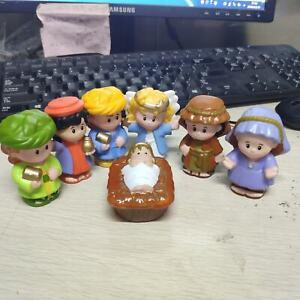 7pcs Little People Wise Men Joseph Mary angel baby Jesus Christmas Nativity toys