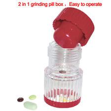 Multifunction Portable Lightweight Pill Crusher Container Pulverizer StorageWLWR