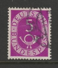 W Germany 1951 Posthorn 5pf púrpura brillante SG 1047 Fu