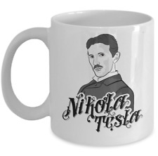 Science Physics mug - Physicist inventor Nikola Tesla portrait - scientist gift
