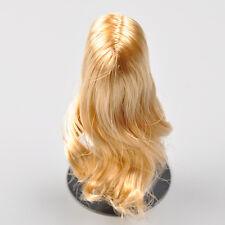 "1:6 KUMIK Girl Female Head Women Golden curls Hair Wig For 12"" Figure Type A"
