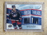 08-09 UD ICE Fresh Threads Jersey Patch #FT-NF NIKITA FILATOV Rookie RC /25