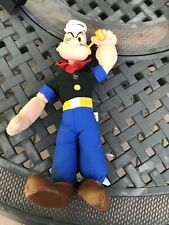 Vintage Popeye Plush Play By Play Toy Plastic Head