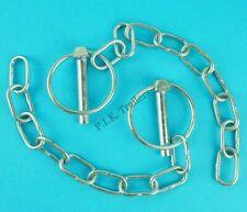 2 x Lynch Pin & Chain 8mm Pin x 40mm Ring Trailer Horse Box & Van Tail Gate Pin