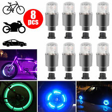 8X LED Wheel Tire Tyre Valve Stem Caps Neon Light Lamp for Car Motorcycle Bike