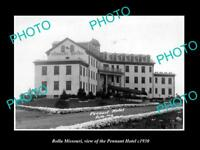 OLD LARGE HISTORIC PHOTO OF ROLLA MISSOURI, VIEW OF THE PENNANT HOTEL c1930