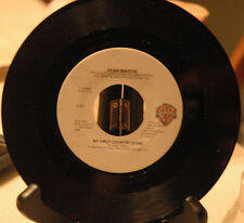 DEAN MARTIN MY FIRST COUNTRY SONG / HANGIN' AROUND -1983-45rpm ( NM )