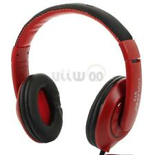 Over-Ear 3.5mm Stereo Headset Headphones Earphone With Mic For PC Laptop Phone