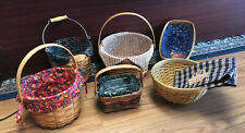 Lot of (6) Longaberger Vintage Baskets and Combos - Very Nice Condition!