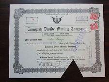 Tonopah Divide Mining Company    1912 Nevada Corporation