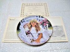 "Knowles China Co 1989  ""Anna"" Collector Plate Corinne Layton Ltd Ed 1st Issue"