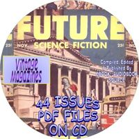 FUTURE SCIENCE FICTION VINTAGE MAGAZINES / COMIC BOOKS - 44 ISSUES - PDF - DVD