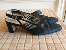 PRADA Black Satin Formal Shoes US 7.5 Regular