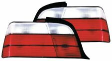 BMW 3 Series E36 (1993-1997) 2 Door Red & Clear Lens Back Rear Tail Lights -Pair