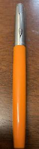 Parker Fountain Pen Orange