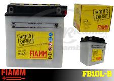 FB10L-B BATTERIA MOTO FIAMM MOTOR ENERGY YUASA YB10L-B 11 Ah 100A  + LIQUIDO