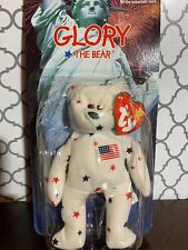 Glory The Bear Beanie Baby Rare With Errors-red Star Over Eye, Tag 1993!