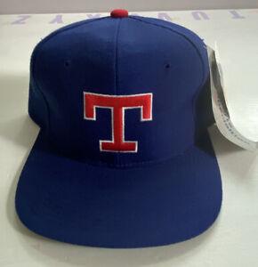Rare Vintage NWT Texas Rangers Sports Specialties Plain Logo Wool Snapback Hat