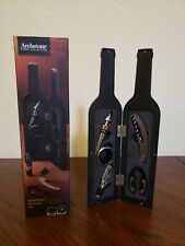 Archstone Collections AH474 Premium Wine Bottle Gift Set Opener Stopper EUC