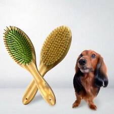 Bamboo Dual Sided Pet Brushes Bristle Brush Dog Brush Pet Grooming Hair Comb new