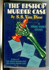 THE BISHOP MURDER CASE by SS Van Dine, rare US G&D crime hardcover in DJ