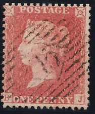 1857 Penny Red Spec C9 (3) Pale-Rose Plate 49 (BJ) Very Fine Used Good Perfs