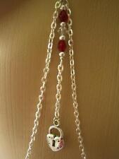 * collar con cadenas remolque pezones joyas fetich sin piercing rojo plata