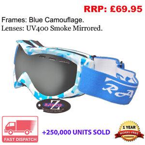 Rayzor Camo Ski Snowboard Goggles 100% UV400 Antifog Double Lens RICAGBSM RRP£69