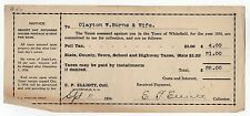 1934 WHITEFIELD NEW HAMPSHIRE Tax Invoice TAXES Government NH Coos County