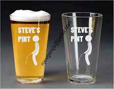 Personalised Engraved Pint Glass Breaking the Seal Birthday Party by jevge 21