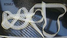 Yellow / White 10 M 12mm Wide Embroidered Net Lace Trim Ribbon Sewing - UK MADE