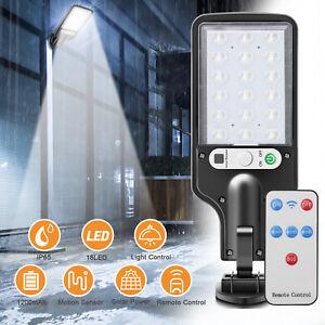 600W LED Solar Powered Light PIR Sensor Motion Control Outdoor Lamp W/ Remote US