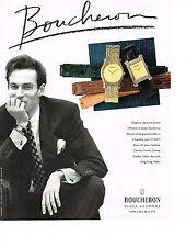 PUBLICITE ADVERTISING  1990    BOUCHERON collection montre homme