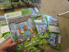 Minecraft  Xbox 360 ( 1 ) VIDEOGAME  NEW FACTORY  SEALED HARD TO FIND IN STORE