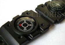 Uhrband m. brújula kunsstoff negro relojes pulsera plasic watch dispositivo STAP Compass 20mm
