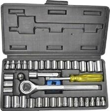 "40 pcs Multi purpose Combination Socket Wrench Set with 1/4"" Ratchet Handle"
