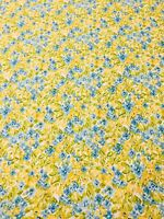 Dena Designs Watercolor Floral Facade Citrus Yellow Blue Green Fabric BTY