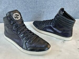 Gucci Men's GG Imprime High Top Sneakers Size 11 G = 12 US *Authentic