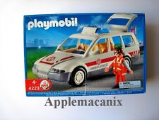 SEALED NEW - Playmobil 4223 Emergency Vehicle Ambulance Car Wagon #4223 Retired