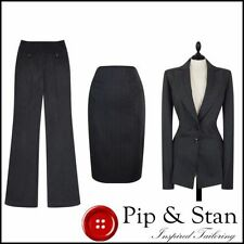 Business Striped 3 Piece Suits & Tailoring for Women