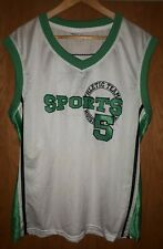 Mens White /Green mesh Sports Vest size  XL