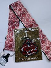 DISNEY OFFICIAL PIN TRADING PIRATES OF CARIBBEAN WIDE LANYARD & MEDALLION NWT