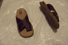 womens faded glory larenda brown toe band cross strap sandals shoes size 8