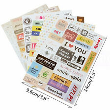 6 sheet/lot(1 bag) Vintage Retro Stamp Sticker Cute Cartoon Paper Sticker FC