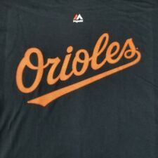 Baltimore Orioles Men's Large T-Shirt Majestic Licensed Merch Logo MLB