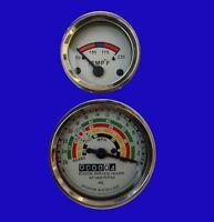 Fordson Dexta (80/60) / Super Dexta (Diesel) Tachometer Temperature Gauge
